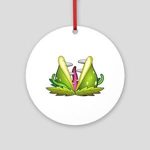 venus flytrap monster Round Ornament