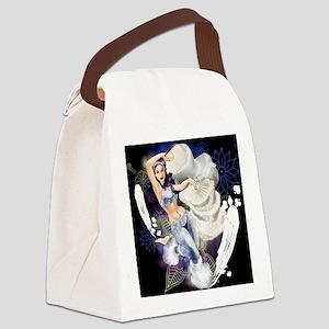 CAFEPRESSsnowdark Canvas Lunch Bag