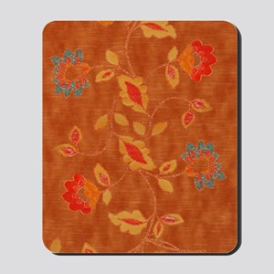 Earth orange flowers Journal Mousepad