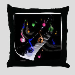 Universal music sticker round Throw Pillow