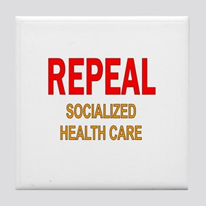 RepealSocMed10x Tile Coaster