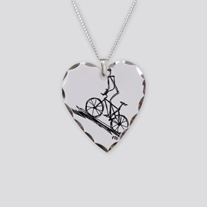 Mountain biker copy Necklace Heart Charm