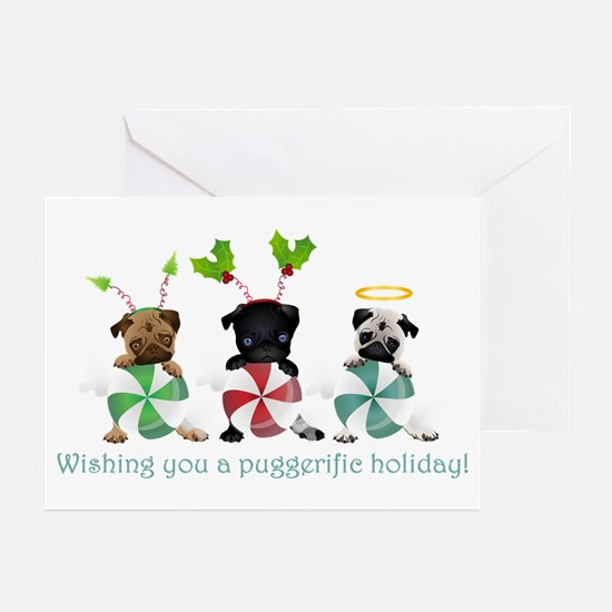Have A Puggerific Holiday Greeting Cards (Pk of 20