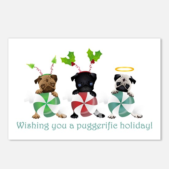 Have A Puggerific Holiday Postcards (Package of 8)