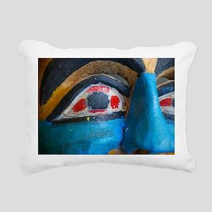 Painted Face Rectangular Canvas Pillow