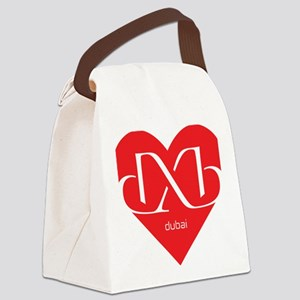 Heart Dubai Canvas Lunch Bag