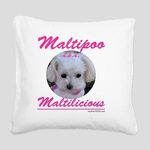 malti-licious_300dpi copy Square Canvas Pillow