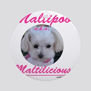 malti-licious_300dpi copy Round Ornament