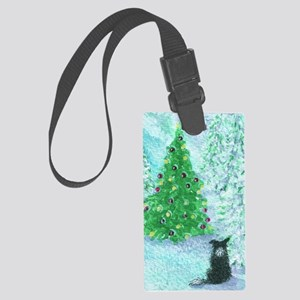 When Christmas trees were tall Large Luggage Tag