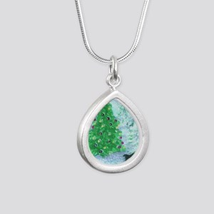 When Christmas trees wer Silver Teardrop Necklace