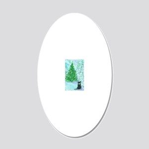 When Christmas trees were ta 20x12 Oval Wall Decal