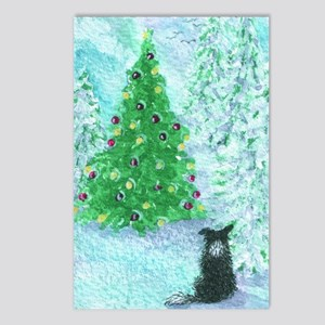 When Christmas trees were Postcards (Package of 8)