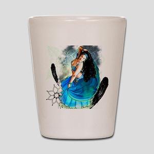 CAFEPRESSblue Shot Glass