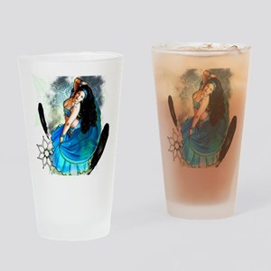 CAFEPRESSblue Drinking Glass