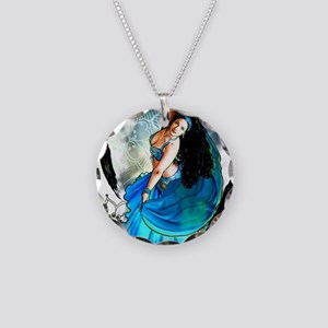 CAFEPRESSblue Necklace Circle Charm