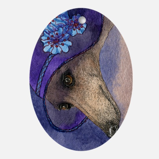 journal whippet of mystery Oval Ornament