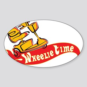 Wheelie TIme Sticker (Oval)