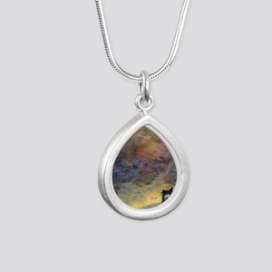 New day dawning Silver Teardrop Necklace