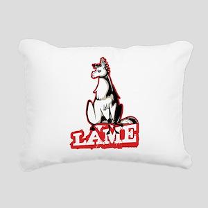 Llama disapproves Rectangular Canvas Pillow