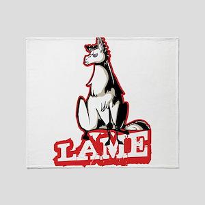 Llama disapproves Throw Blanket