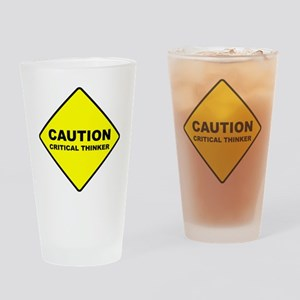 2-caution Drinking Glass