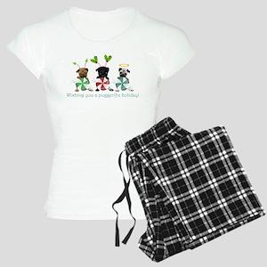 Have A Puggerific Holiday Women's Light Pajamas