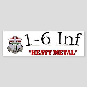 1st Bn 6th Inf Cap2 Sticker (Bumper)