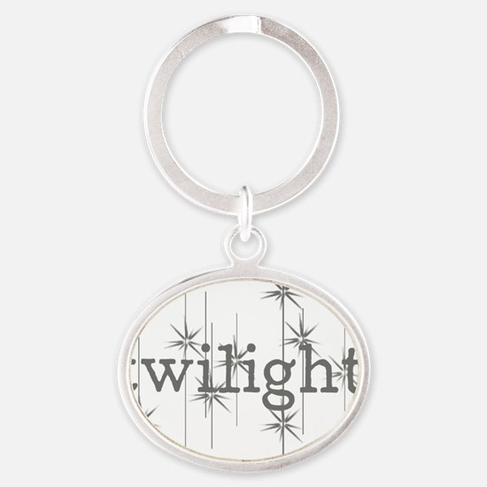 Twilight Oval Keychain