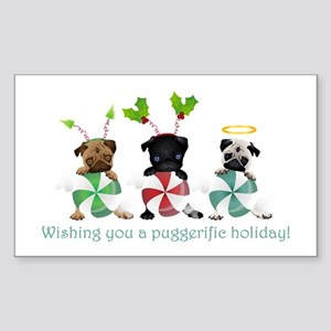 Have A Puggerific Holiday Sticker (Rectangle)