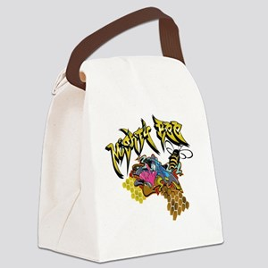 Graffiti Mighty Bee Canvas Lunch Bag