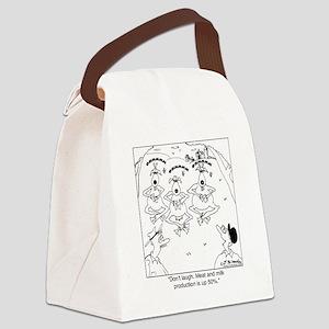 6927_goat_cartoon Canvas Lunch Bag