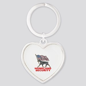DOBERMAN HOMELAND SECURITY Keychains