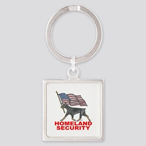 DOBERMAN HOMELAND SECURITY Keychains