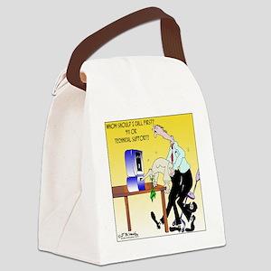 6990_computer_cartoon Canvas Lunch Bag