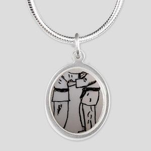 JUDO Silver Oval Necklace
