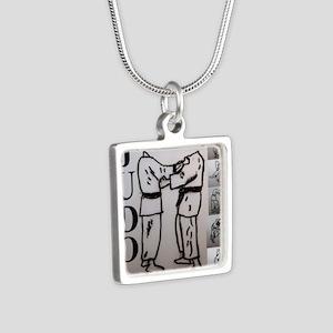 JUDO Silver Square Necklace
