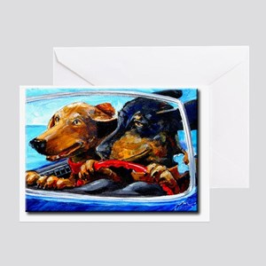 2 Dogs to Go Greeting Card