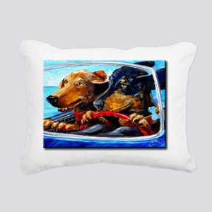 2 Dogs to Go Rectangular Canvas Pillow