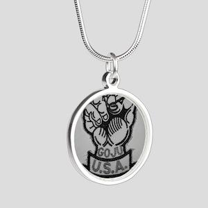 Goju Ryu Silver Round Necklace