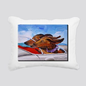 Speeding Weeners Rectangular Canvas Pillow