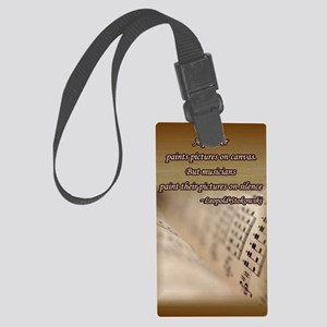 music_book3 Large Luggage Tag