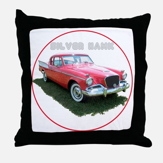 SilverHawk-C8trans Throw Pillow