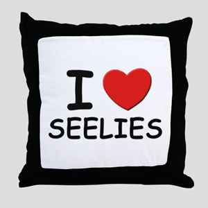 I love seelies Throw Pillow