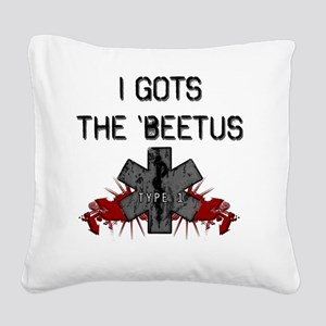 beetus Square Canvas Pillow