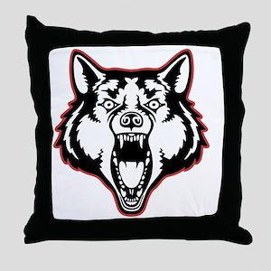 wolf-1-T Throw Pillow