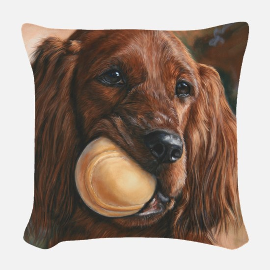 Wanna Play Woven Throw Pillow