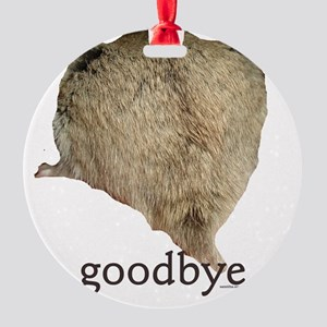 abby goodbye Round Ornament