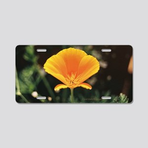 California Poppy Small Fram Aluminum License Plate