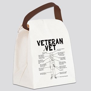 veteranvetfemale maybeuse Canvas Lunch Bag