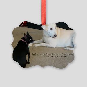 Dogs Friendship Picture Ornament